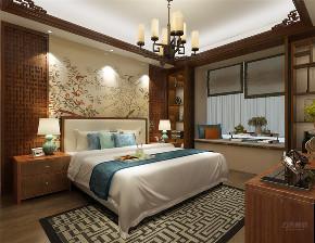 中式 二居 收纳 白领 小资 卧室图片来自阳光力天装饰在力天装饰-天房天拖133㎡中式的分享