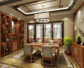 中式 二居 收纳 白领 小资 餐厅图片来自阳光力天装饰在力天装饰-天房天拖133㎡中式的分享