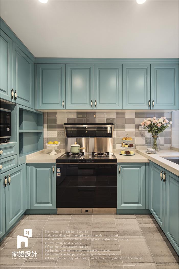 厨房图片来自家语设计张海妮工作室在那抹暖男色的分享