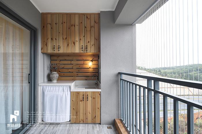 阳台图片来自家语设计张海妮工作室在那抹暖男色的分享