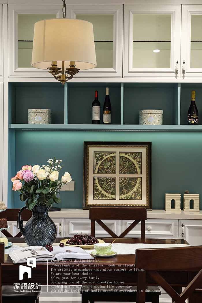 餐厅图片来自家语设计张海妮工作室在那抹暖男色的分享