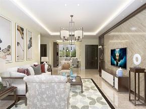 二居 中式 白领 收纳 小资 客厅图片来自阳光力天装饰在力天装饰-红星国际89㎡中式的分享