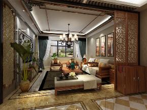 中式 二居 收纳 白领 小资 客厅图片来自阳光力天装饰在力天装饰-天房天拖133㎡中式的分享