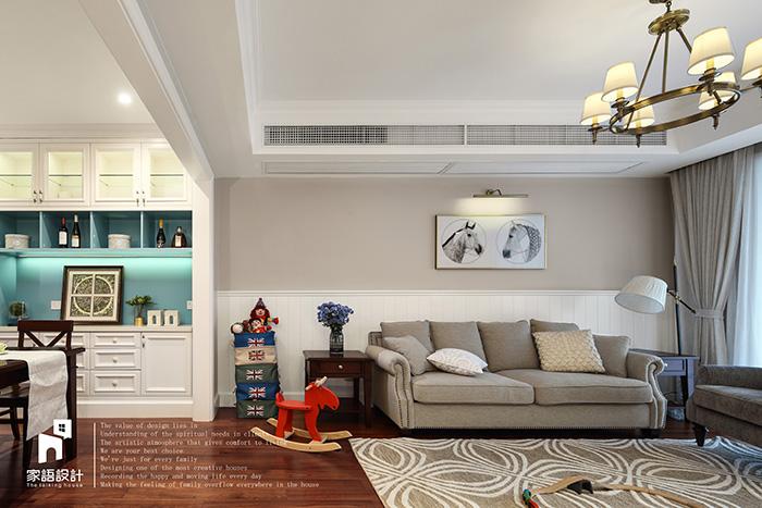 客厅图片来自家语设计张海妮工作室在那抹暖男色的分享