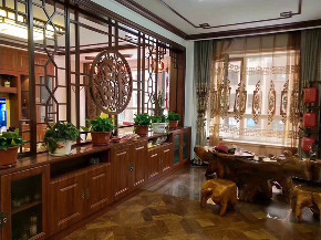 简约 中式 80后 小资 白领 收纳 三居 生活 设计 餐厅图片来自生活家-月昂在梅西湖金茂悦90㎡中式风格鉴赏!的分享