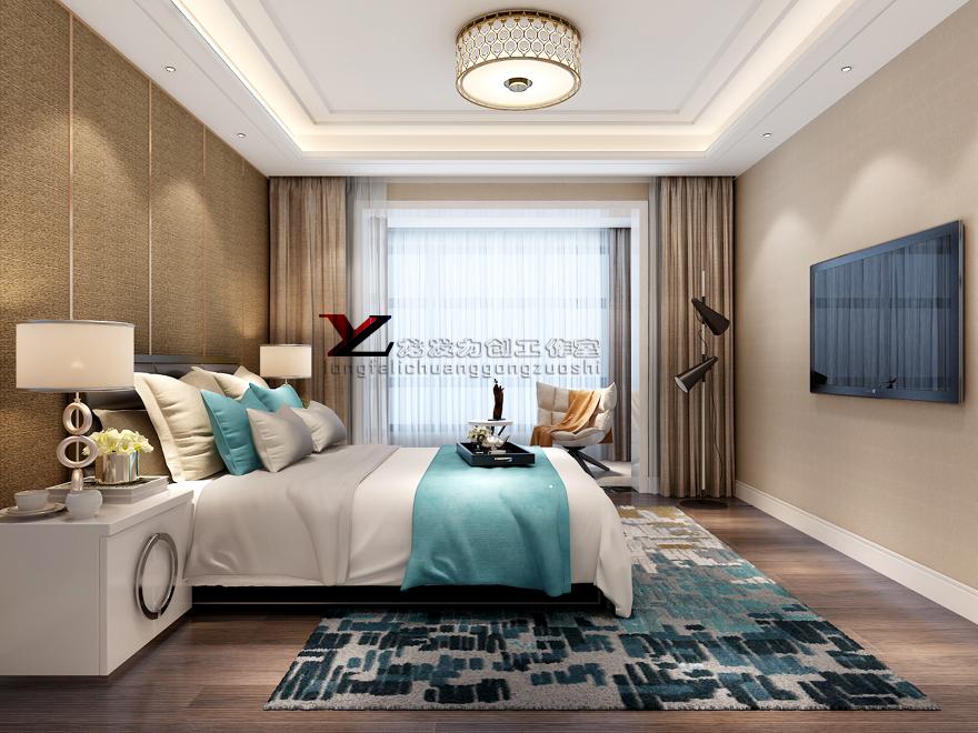 湖城大境 时尚简约风 五居室 258㎡图片来自西安龙发室内设计在湖城大境·时尚简约风格·五居室的分享