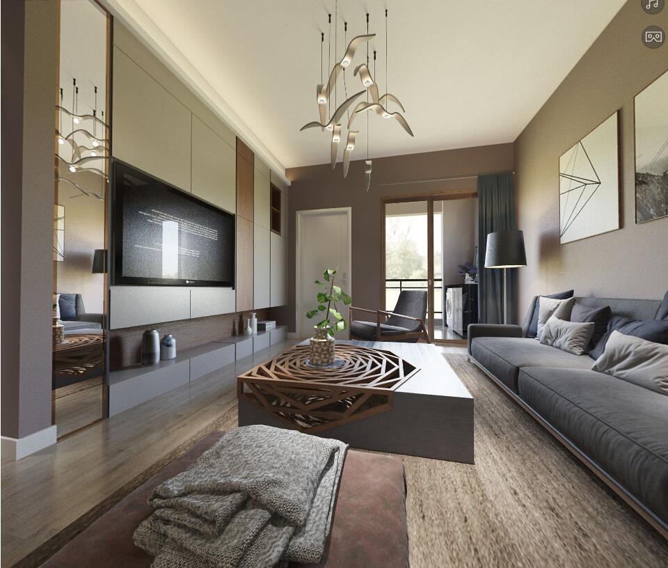 客厅图片来自福州有家装饰-小彭在正荣财富中心的分享