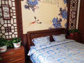 简约 中式 80后 小资 白领 收纳 三居 生活 设计 卧室图片来自生活家-月昂在梅西湖金茂悦90㎡中式风格鉴赏!的分享