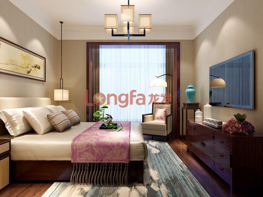 曲池东岸 新中式风格 五居室图片来自西安龙发室内设计在曲池东岸·新中式风格·五居室的分享