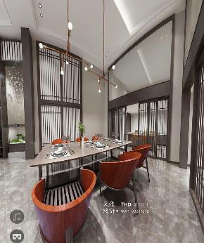 简约 80后 新中式 客厅 中国红 复式 楼梯 别墅 游小华 餐厅图片来自福建天汇设计工程有限公司在新中式风格《懿》的分享