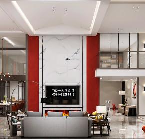 简约 80后 新中式 客厅 中国红 复式 楼梯 别墅 游小华 客厅图片来自福建天汇设计工程有限公司在新中式风格《懿》的分享