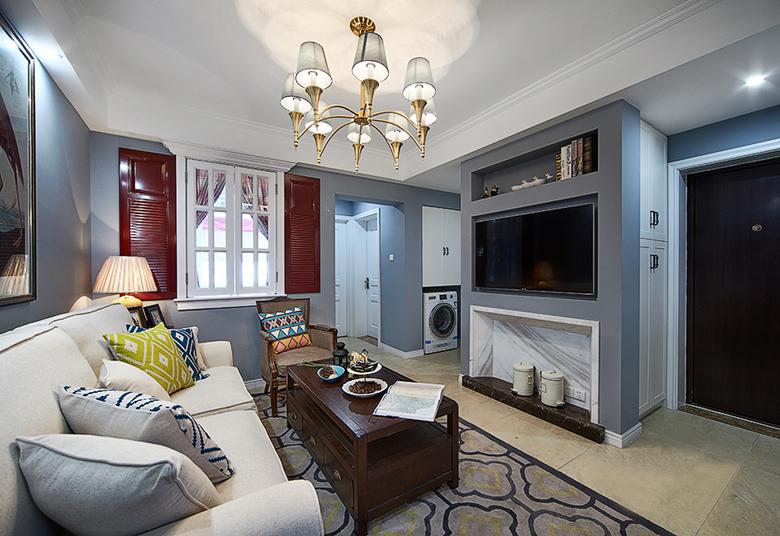 客厅图片来自我是小样在万科高新华府四室140平现代风格的分享