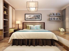 中式 四室 白领 收纳 80后 小资 卧室图片来自阳光放扉er在力天装饰万科假日风景新中式的分享
