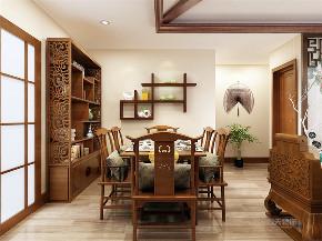 中式 四室 白领 收纳 80后 小资 餐厅图片来自阳光放扉er在力天装饰万科假日风景新中式的分享