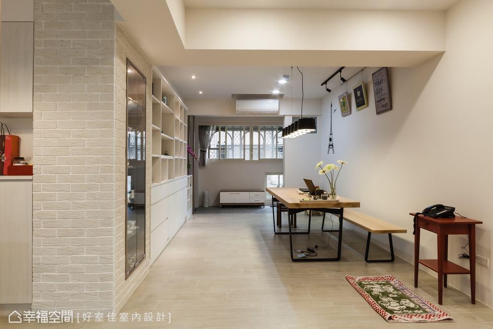 二居 现代 餐厅图片来自幸福空间在92平家与工作室的结合的分享