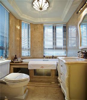 美式 四居 大户型 复式 跃层 别墅 小资 卫生间图片来自高度国际姚吉智在230平米美式宁静淡然却不失轻奢的分享