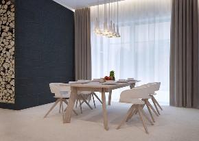 北欧 大户型 跃层 复式 别墅 小资 80后 餐厅图片来自高度国际姚吉智在219平米北欧极简主义简到深处的分享