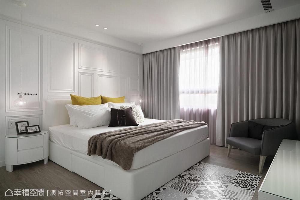 三居 现代 卧室图片来自幸福空间在描绘生活雏形 149平简约日光宅的分享