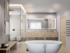 北欧 大户型 跃层 复式 别墅 小资 80后 卫生间图片来自高度国际姚吉智在219平米北欧极简主义简到深处的分享