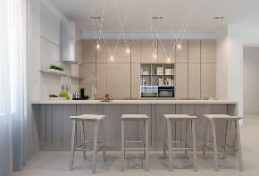 北欧 大户型 跃层 复式 别墅 小资 80后 厨房图片来自高度国际姚吉智在219平米北欧极简主义简到深处的分享