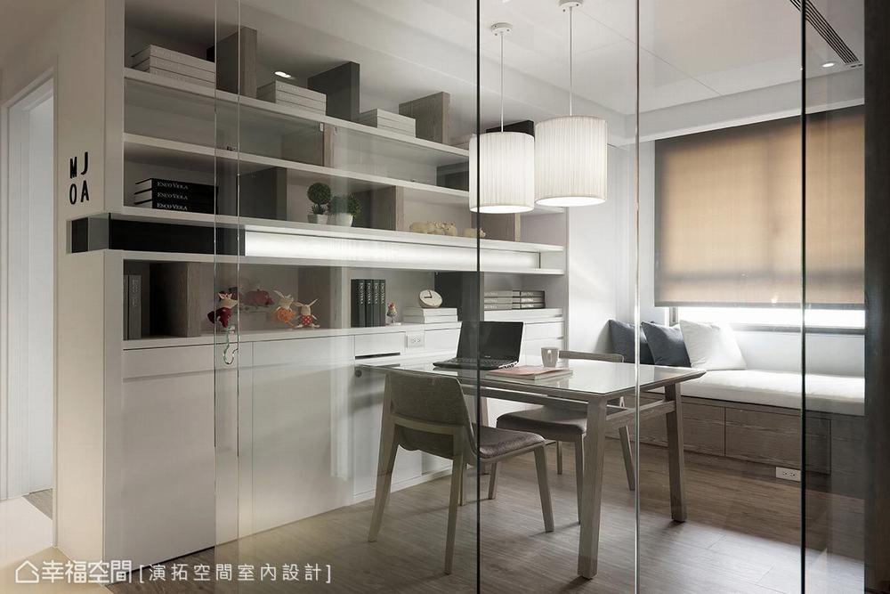 三居 现代 书房图片来自幸福空间在描绘生活雏形 149平简约日光宅的分享