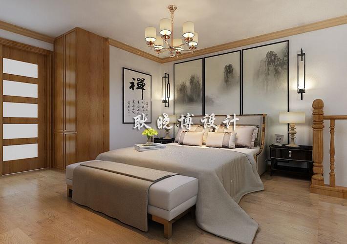 大户型 新中式 奉天九里 卧室图片来自百家设计小刘在奉天九里188平新中式风格的分享