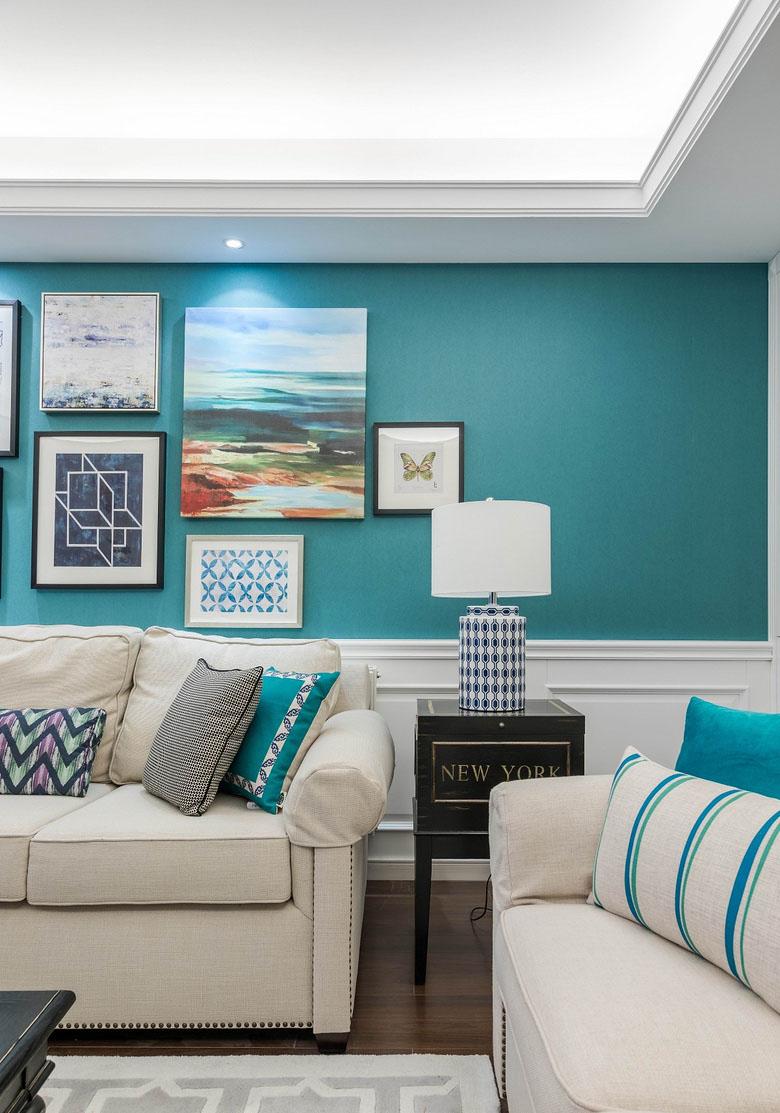 客厅图片来自家装大管家在春暖花开 180平简约美式混搭3居的分享
