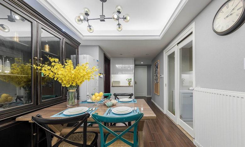 餐厅图片来自家装大管家在春暖花开 180平简约美式混搭3居的分享