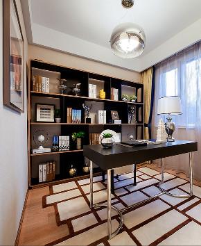 现代 四居 三居 大户型 跃层 复式 小资 80后 书房图片来自高度国际姚吉智在167平米后现代感受多变的生活的分享