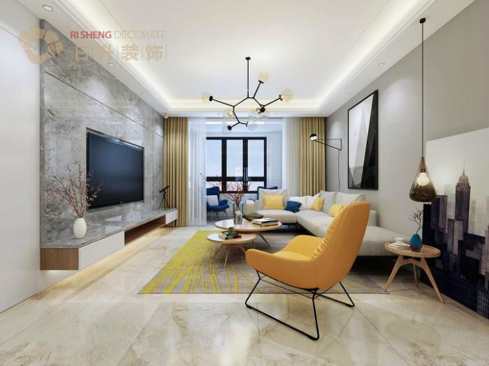 客厅图片来自日升嬛嬛在136平简约风格装修设计的分享