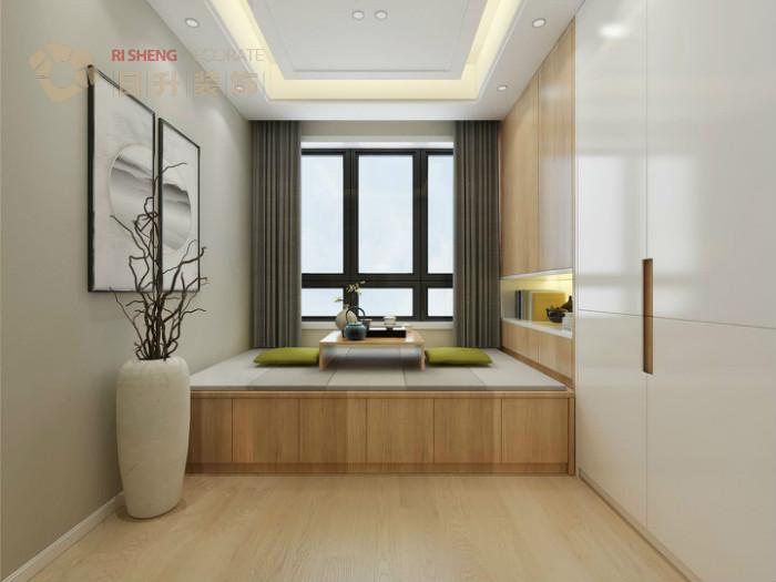 卧室图片来自日升嬛嬛在136平简约风格装修设计的分享