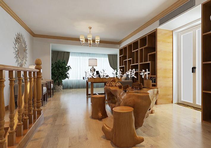 大户型 奉天九里 新中式风格 餐厅图片来自百家设计小刘在奉天九里188平新中式风格半包7万的分享