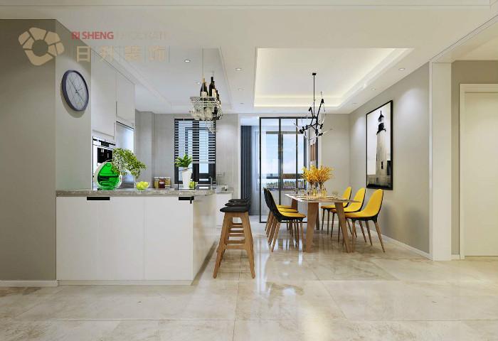 餐厅图片来自日升嬛嬛在136平简约风格装修设计的分享