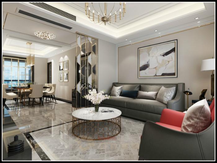 简约 三居 白领 收纳 旧房改造 80后 装修设计 客厅图片来自日升嬛嬛在东郊140平简约风格装修的分享