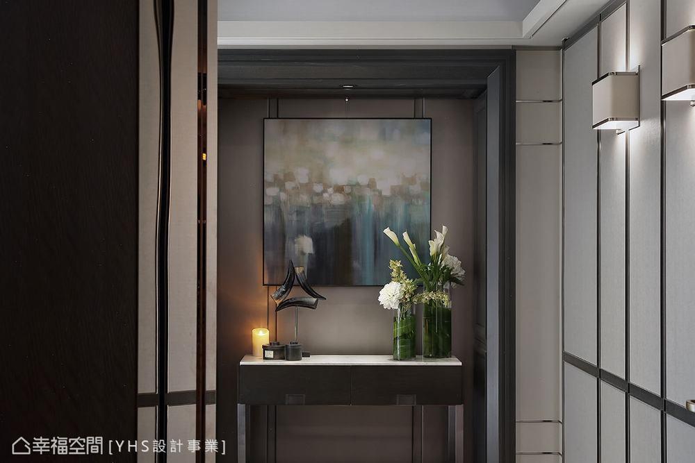 三居 现代 大户型 玄关图片来自幸福空间在醇厚迭景 环抱488平大器风范的分享