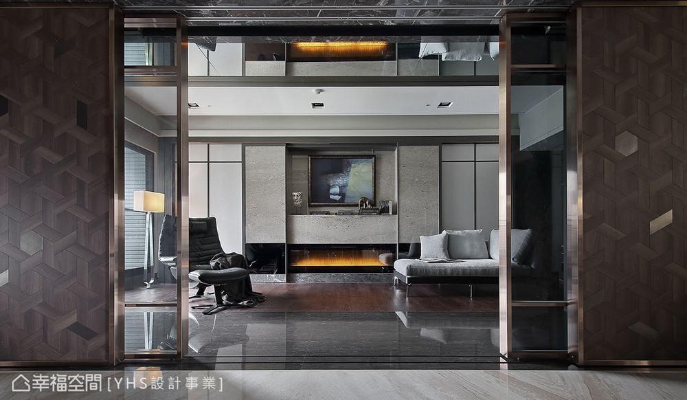 三居 现代 大户型 书房图片来自幸福空间在醇厚迭景 环抱488平大器风范的分享