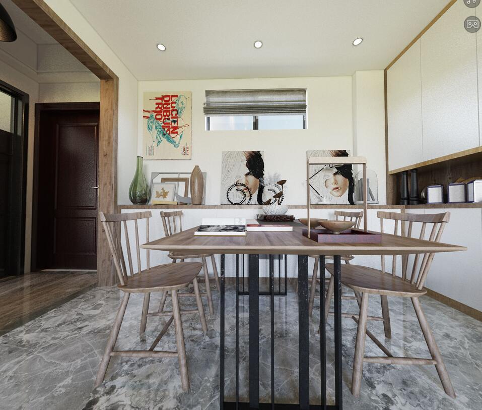 简约 80后 三居 餐厅图片来自福州有家装饰-小彭在融信澜郡-3.16的分享