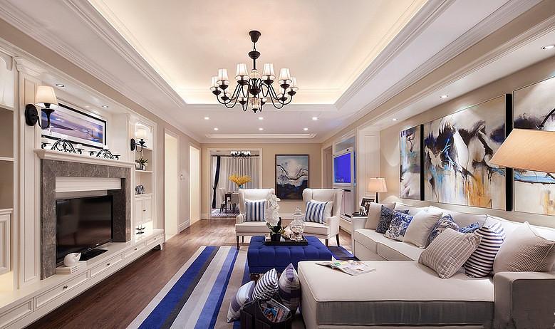 客厅 别墅 美式 装修 设计 效果图 星艺图片来自星艺装饰贵阳装修公司在美式风格的分享