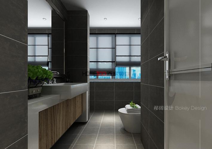 三居 奉天九里 现代风格 卫生间图片来自百家设计小刘在奉天九里143平现代风格半包5万的分享