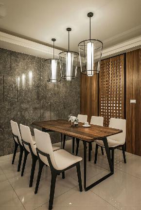 港式 三居 大户型 复式 跃层 80后 小资 餐厅图片来自高度国际姚吉智在160平米港式风高级灰原木质感的分享