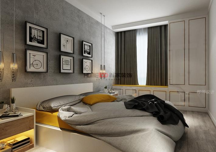 三居 奉天九里 现代风格 卧室图片来自百家设计小刘在奉天九里143平现代风格半包5万的分享