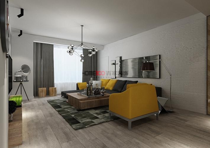 三居 奉天九里 现代风格 客厅图片来自百家设计小刘在奉天九里143平现代风格半包5万的分享