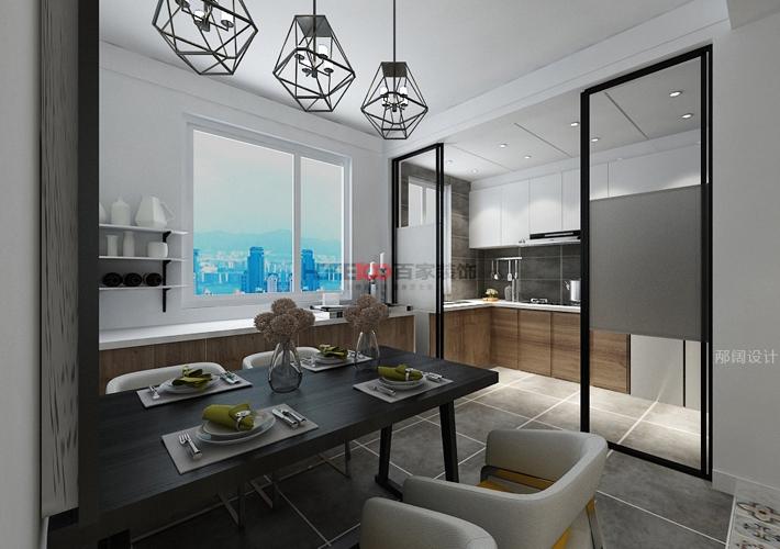 三居 奉天九里 现代风格 餐厅图片来自百家设计小刘在奉天九里143平现代风格半包5万的分享
