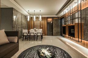 港式 三居 大户型 复式 跃层 80后 小资 客厅图片来自高度国际姚吉智在160平米港式风高级灰原木质感的分享