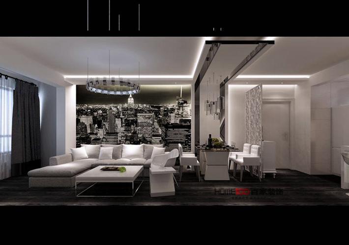 二居 太阳城 现代简约 客厅图片来自百家设计小刘在碧桂园太阳城86平现代简约全包的分享