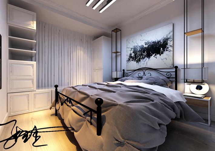 百家装饰 沈阳装修 北欧风格 卧室图片来自百家装饰--小莹在浦江苑御景湾 82平北欧风格的分享