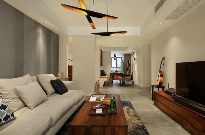 简约 三居 小资 美式 梵客家装 客厅图片来自乐粉_20180315102349513在名士华庭三居室美式简约风格的分享