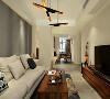 简单的造型和明亮的颜色搭配起来,透着简约而不简单的感觉。沙发背景墙给人简约的气息。