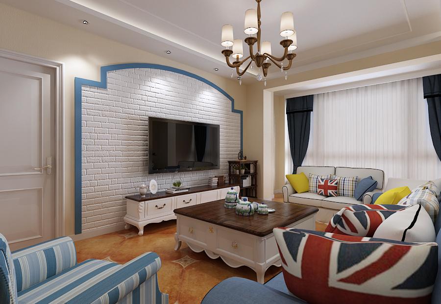 客厅图片来自沈阳百家装饰小姜在碧桂园120平地中海风格的分享