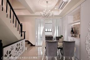 四居 别墅 新古典 楼梯图片来自幸福空间在238平现代新古典的绝美姿态的分享